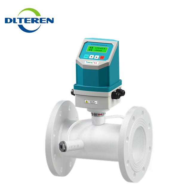RS485 output local display stainless steel material inline ultrasonic flow meter flowmeter price