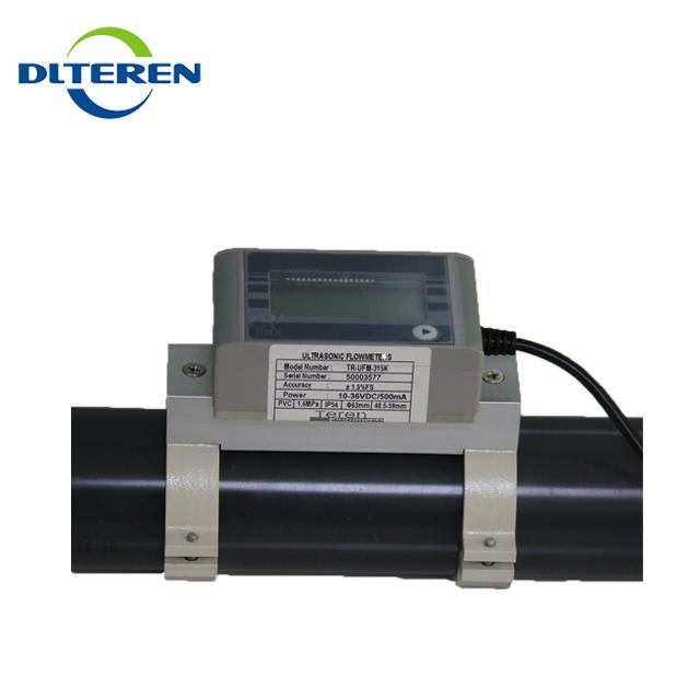 Clamp on water Ultrasonic flow rate sensor flow controller