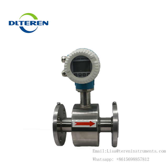 DN40 stainless steel 304 material electromagnetic flow meter with 4-20mA and pulse output